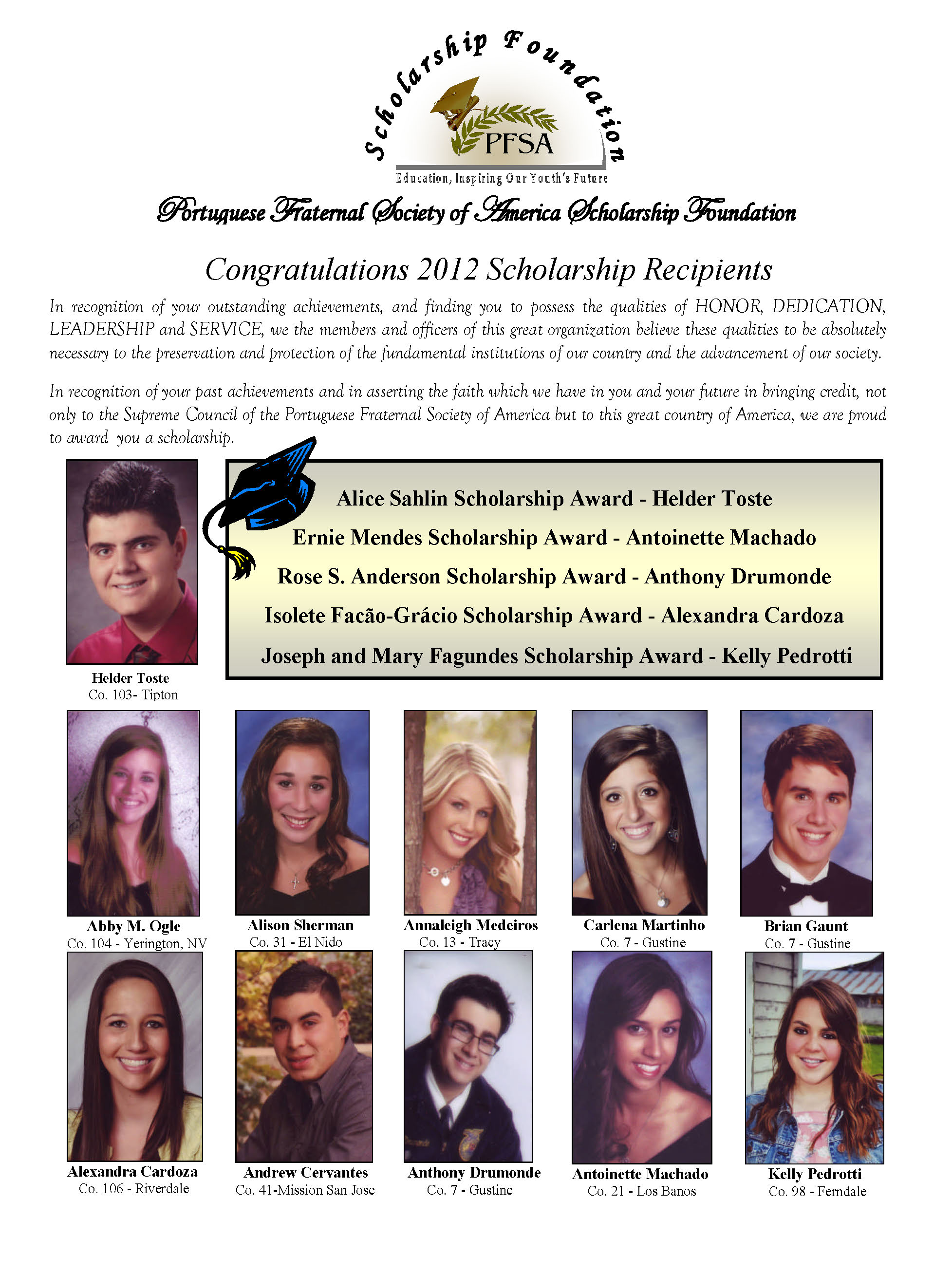 2012 Scholarship Recipients_Page_1