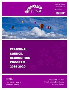 PFSA Council Recognition Program 2019-2020