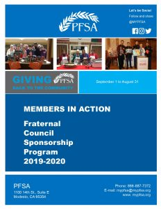 PFSA MEMBERS IN ACTION GUIDELINES AND APPLICATION 2019-20F
