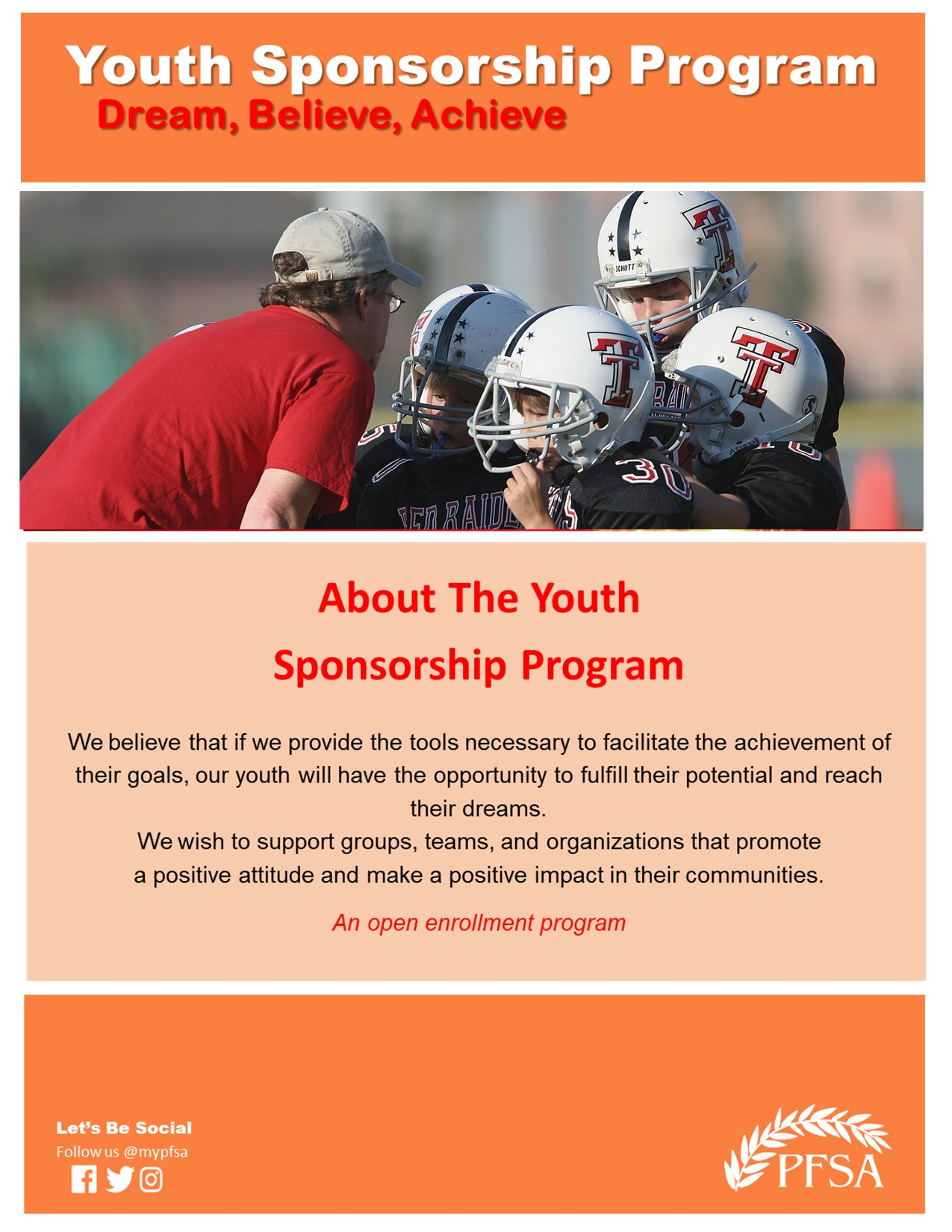 PFSA Youth Activity Sponsorship Program Application 2020-Draft